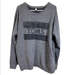 TOMS Gray Logo Sweatshirt W/ Pockets sz XL
